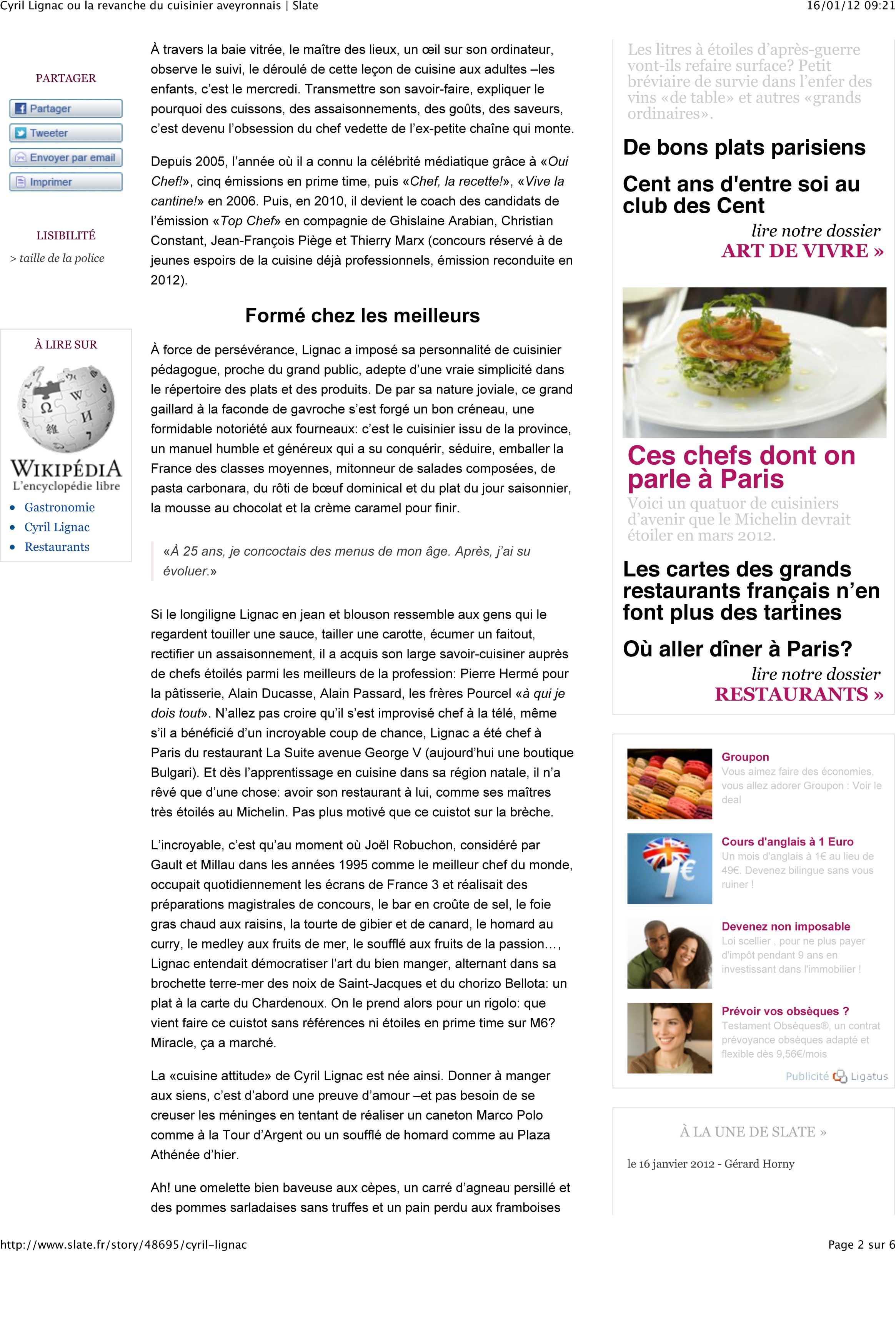 100 cours de cuisine paris cyril stage de cuisine - Cours de cuisine avec cyril lignac ...