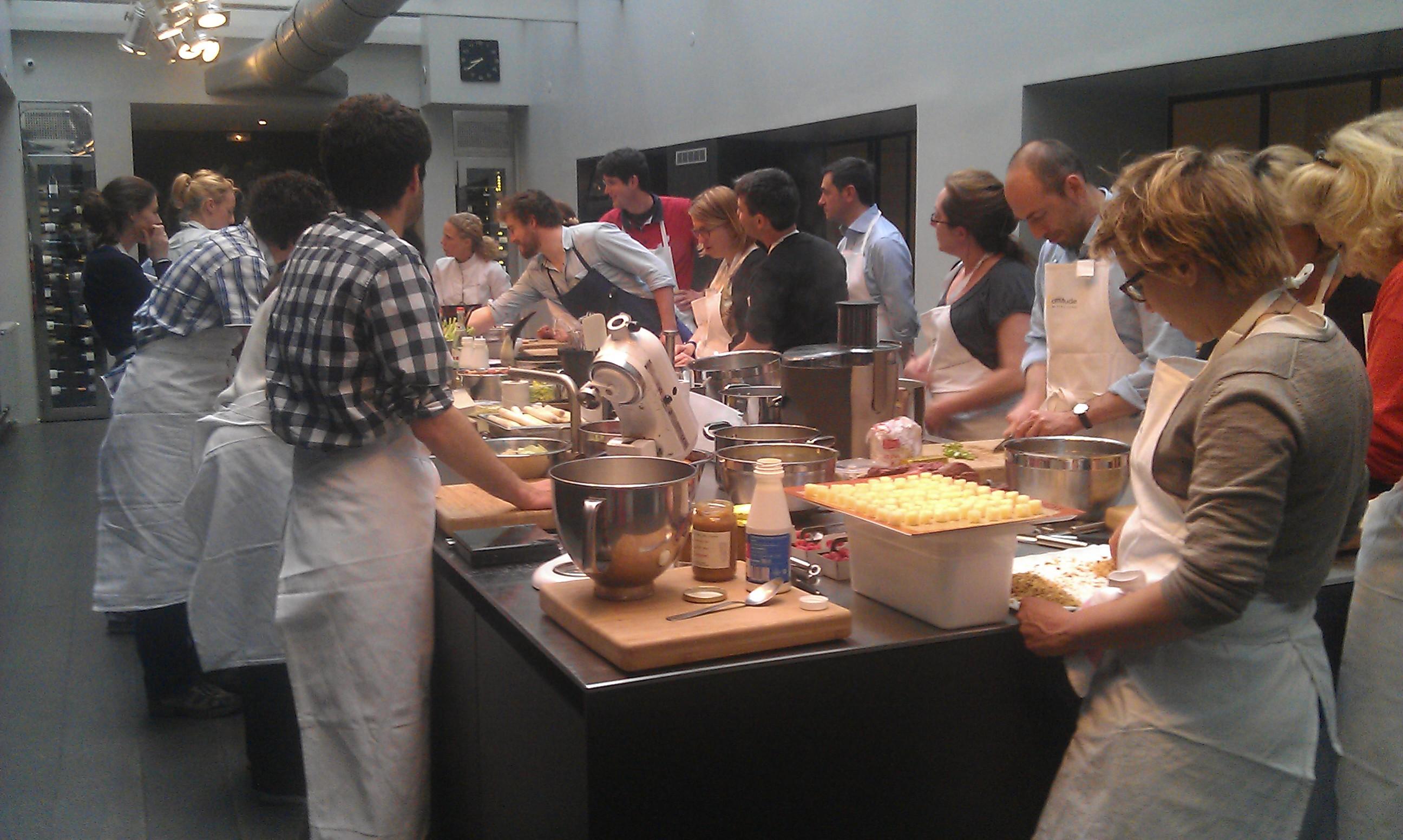 Une soir e exceptionnelle l atelier avec florent ladeyn for Atelier cuisine cyril lignac